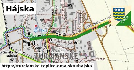 ilustrácia k Hájska cesta, Turčianske Teplice - 506m