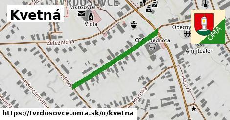 ilustrácia k Kvetná, Tvrdošovce - 334m