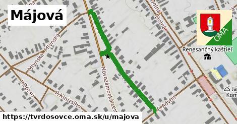 ilustrácia k Májová, Tvrdošovce - 267m