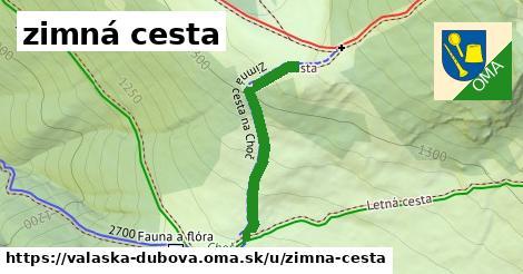 ilustrácia k zimná cesta, Valaská Dubová - 295m