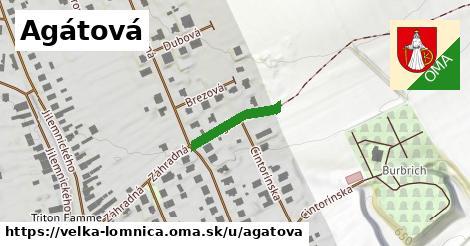 ilustrácia k Agátová, Veľká Lomnica - 157m