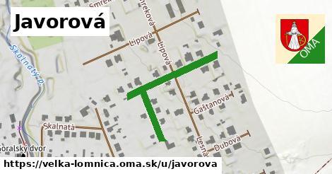 ilustračný obrázok k Javorová, Veľká Lomnica