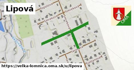 ilustrácia k Lipová, Veľká Lomnica - 276m