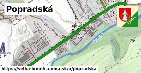 ilustrácia k Popradská, Veľká Lomnica - 1,29km