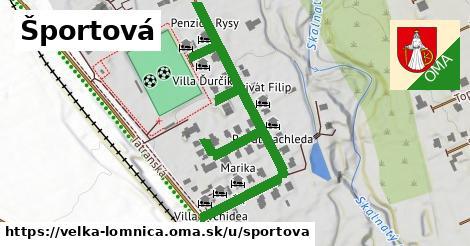 ilustrácia k Športová, Veľká Lomnica - 662m