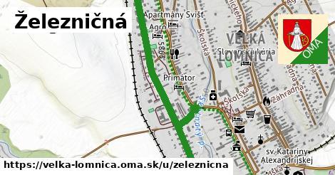ilustrácia k Železničná, Veľká Lomnica - 1,33km