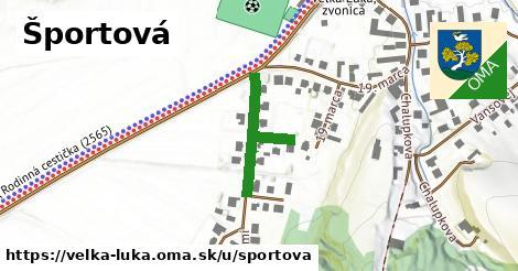 ilustrácia k Športová, Veľká Lúka - 229m