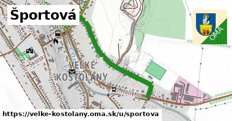 ilustrácia k Športová, Veľké Kostoľany - 0,74km