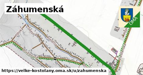 ilustrácia k Záhumenská, Veľké Kostoľany - 1,18km