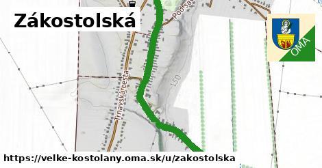 ilustrácia k Zákostolská, Veľké Kostoľany - 0,89km