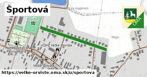 ilustrácia k Športová, Veľké Orvište - 351m