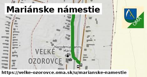 ilustrácia k Mariánske námestie, Veľké Ozorovce - 549m