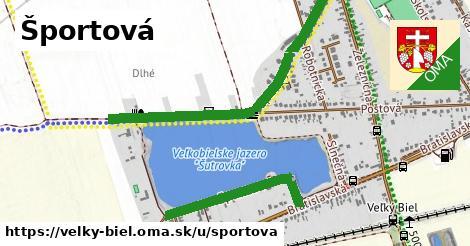 ilustrácia k Športová, Veľký Biel - 1,75km