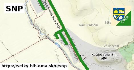 ilustrácia k SNP, Veľký Blh - 2,1km