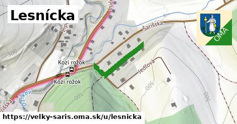ilustrácia k Lesnícka, Veľký Šariš - 195m