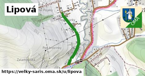 ilustrácia k Lipová, Veľký Šariš - 596m
