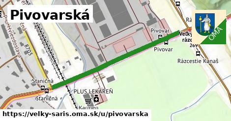 ilustrácia k Pivovarská, Veľký Šariš - 443m