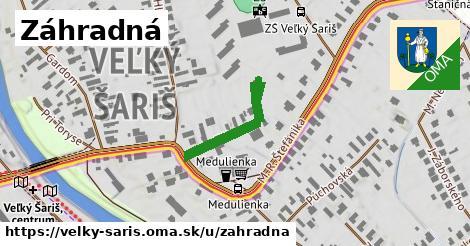 ilustrácia k Záhradná, Veľký Šariš - 202m
