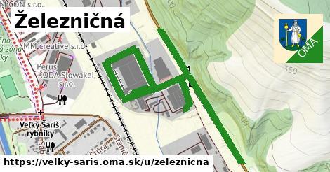 ilustrácia k Železničná, Veľký Šariš - 0,84km