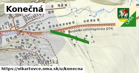 ilustrácia k Konečná, Vikartovce - 161m