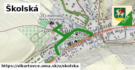 ilustrácia k Školská, Vikartovce - 286m