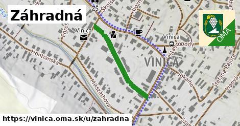 ilustračný obrázok k Záhradná, Vinica
