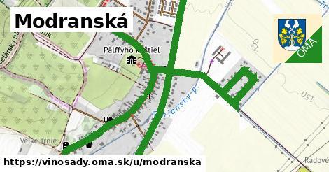 ilustrácia k Modranská, Vinosady - 2,7km