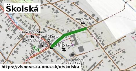 ilustrácia k Školská, Višňové, okres ZA - 222m