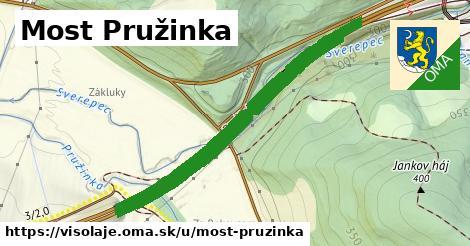 ilustrácia k Most Pružinka, Visolaje - 1,70km