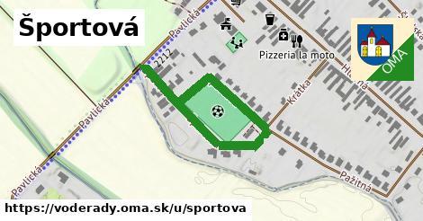 ilustrácia k Športová, Voderady - 210m