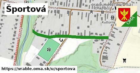 ilustrácia k Športová, Vráble - 413m