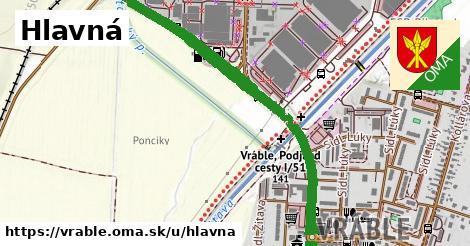 ilustrácia k Hlavná, Vráble - 2,2km