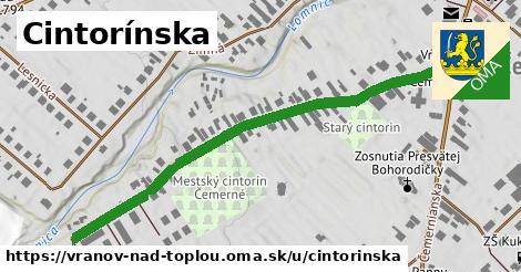 ilustrácia k Cintorínska, Vranov nad Topľou - 610m