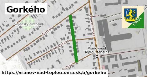 ilustrácia k Gorkého, Vranov nad Topľou - 238m