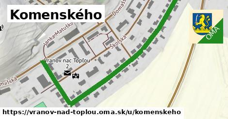ilustračný obrázok k Komenského, Vranov nad Topľou