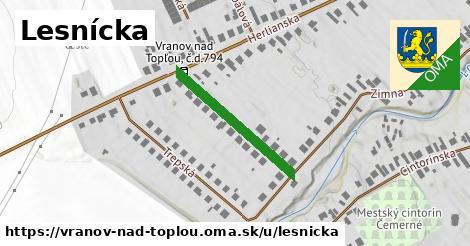 ilustrácia k Lesnícka, Vranov nad Topľou - 244m
