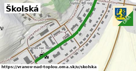 ilustrácia k Školská, Vranov nad Topľou - 483m