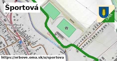 ilustrácia k Športová, Vrbové - 0,76km