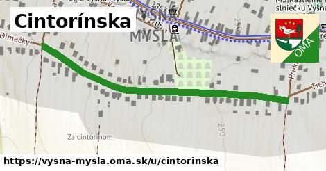 ilustrácia k Cintorínska, Vyšná Myšľa - 590m