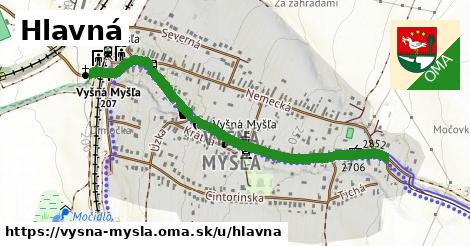 ilustrácia k Hlavná, Vyšná Myšľa - 0,83km