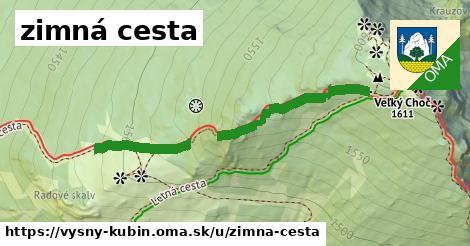 ilustrácia k zimná cesta, Vyšný Kubín - 416m