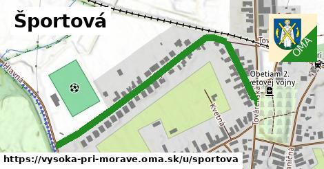 ilustrácia k Športová, Vysoká pri Morave - 638m