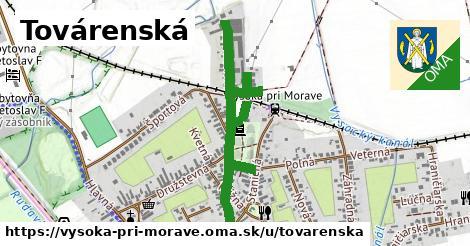 ilustrácia k Továrenská, Vysoká pri Morave - 1,04km