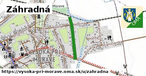 ilustrácia k Záhradná, Vysoká pri Morave - 439m