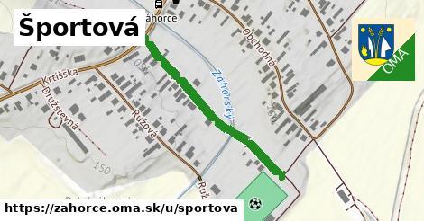 ilustrácia k Športová, Záhorce - 349m