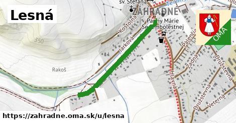 ilustrácia k Lesná, Záhradné - 684m