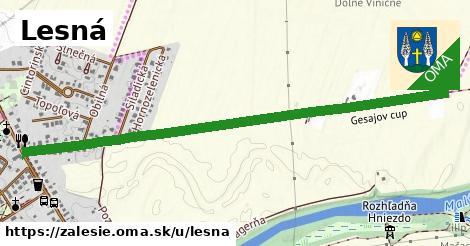 ilustrácia k Lesná, Zálesie - 1,38km