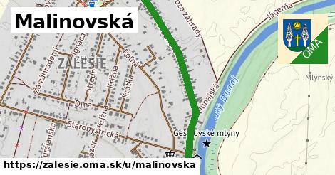 ilustrácia k Malinovská, Zálesie - 2,4km