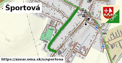 ilustrácia k Športová, Zavar - 0,72km