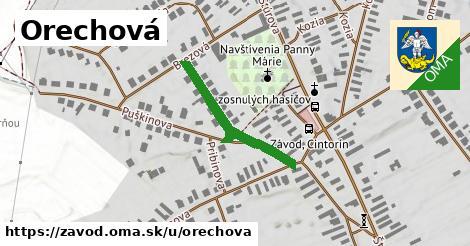 ilustrácia k Orechová, Závod - 265m